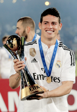 James with trophy