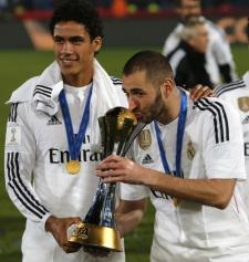 Karim kisses the trophy