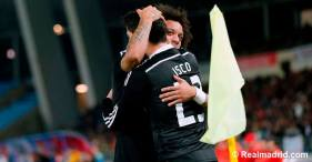 Marcelo and Isco hugs