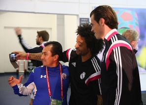 Marcelo snaps a selfie of him and Bale