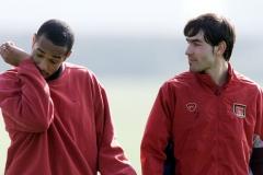 London Arsenal training Henry