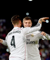 Ramos giving love to his assister
