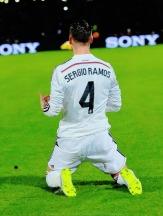 Sergio celebrates his goal