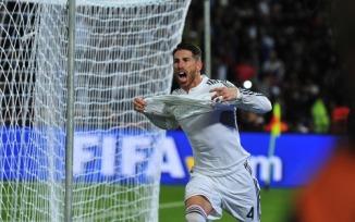 Sergio celebrating his goal