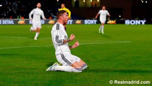 Sergio goal celebration