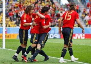 Fernando Torres, Carles Puyol, David Villa, Sergio Ramos