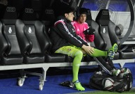 Iker and Fabio on the bench