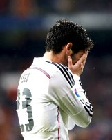 Isco hands to face