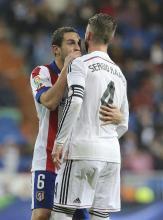Koke whispers to Ramos