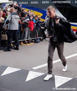 Kroos arrives in Zurich