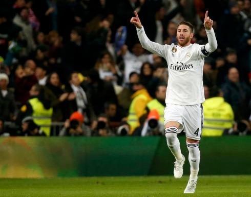 Ramos celebrates his goal
