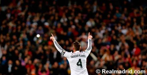 Ramos goal celebration