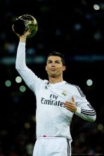 Ronaldo with Golden Ball