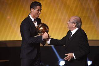 Shaking Blatters hand