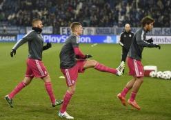 Benz, Kroos, Silva warmup