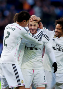 Benz smiling after his goal