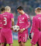 Cris holds the ball