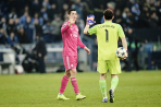 Cristiano and Iker high five