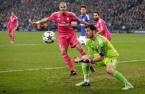 Iker gathers the ball
