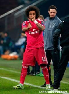 Marcelo celebrates his goal