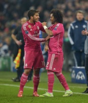 Marcelo celebrates with Silva