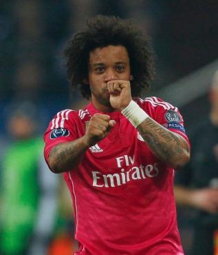 Marcelo celebrates with thumb sucking