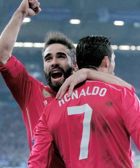 Ronaldo gets Dani hugs