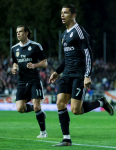Cristiano after goal