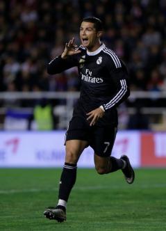 Cristiano celebrates scoring