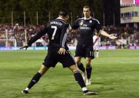 Cristiano goal celebration with Bale