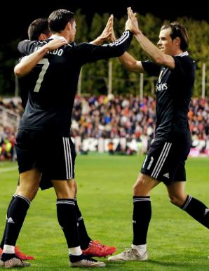 Gareth inserts himself into goal celebrations