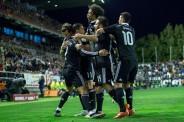 Group hug for Ronaldo goal