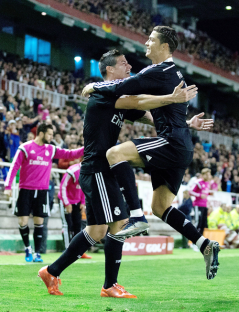 James and Ronaldo excited