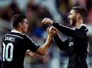 James and Sergio celebrate