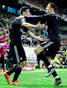 James excited with Ronaldo