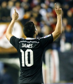 James points to the sky