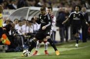 Sergio shields the ball