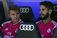 Odegaard and Isco on the bench