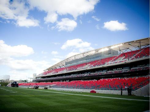 A view of the stadium on the official opening of TD Place at Lansdowne Wednesday July 9. 2014. (Ashley Fraser / Ottawa Citizen)