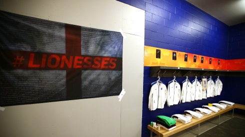 England's locker room, pre-game