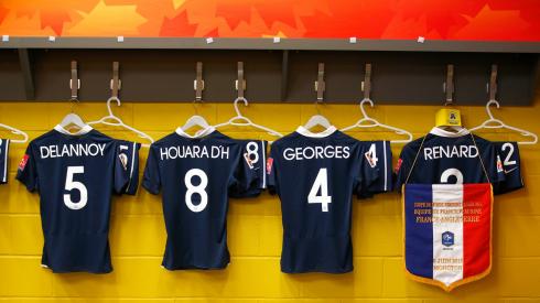 France's locker room, pre-game