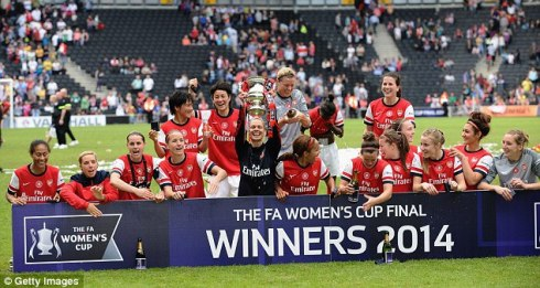 For context, the Arsenal Ladies FC is the most successful women's football team in England. They've won 13 FA Cups, 12 FA Premier League titles, 3 FA WSL Continental Cups, 2 FA WSL titles, and 1 UEFA Champions League trophy.