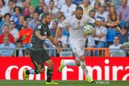 Benz beats the defender