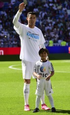 Cristiano and his mascot