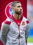 OVIEDO, SPAIN - SEPTEMBER 05: Sergio Ramos of Spain looks on prior to the start the Spain v Slovakia EURO 2016 Qualifier at Carlos Tartiere on September 5, 2015 in Oviedo, Spain. (Photo by Juan Manuel Serrano Arce/Getty Images)