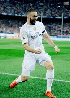 Benz celebrates his goal