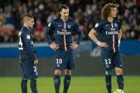 Marco VERRATTI / Zlatan IBRAHIMOVIC / David LUIZ - 20.12.2014 - Paris Saint Germain / Montpellier - 17eme journee de Ligue 1 - Photo : Aurelien Meunier / Icon Sport