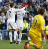 MADRID, SPAIN - DECEMBER 05: ... of Real Madrid ... during the La Liga match between Real Madrid CF and Getafe CF at Estadio Santiago Bernabeu on December 5, 2015 in Madrid, Spain. (Photo by Angel Martinez/Real Madrid via Getty Images)