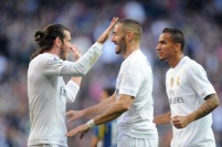 <> at Estadio Santiago Bernabeu on December 5, 2015 in Madrid, Spain.