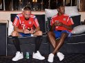 FUSSBALL Saisonvorbereitung 2014/2015 Audi Football Summit in New Jersey USA Tour 2014 FC Bayern München 01.08.2014. Bootsfahrt auf dem Hudson River, Franck Ribery (li) und David Alaba Football pre Season training 2014 2015 Audi Football Summit in New Jersey USA Tour 2014 FC Bavaria Munich 01 08 2014 Boat trip on the Hudson River Franck Ribery left and David Alaba